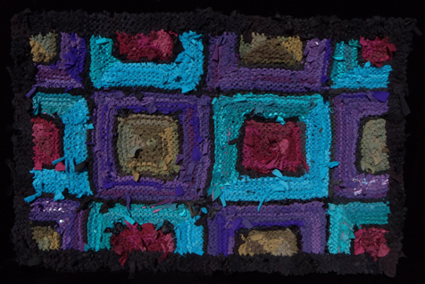 29 Purple Olive Teal Ruby Rag Rug