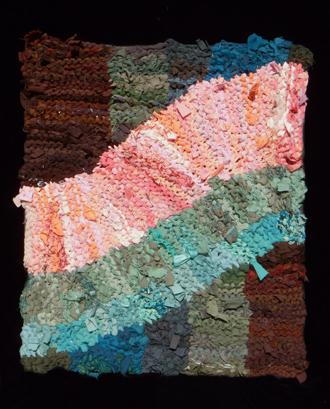 66 Pink Swish Rag Rug