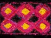 22 Pink & Yellow Log Cabin Rag Rug