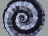 23 Black & White & Gray Spiral Rag Rug