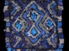 38 Black & White & Blue Rag Rug