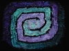 48 Purple & Green Square Spiral Rag Rug