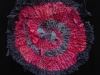 51 Red & Gray Spiral Rag Rug