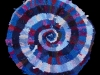 12 Blue and Pink Spiral