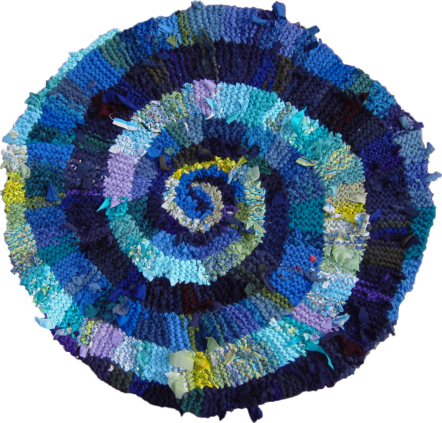 11 Blue Green Spiral
