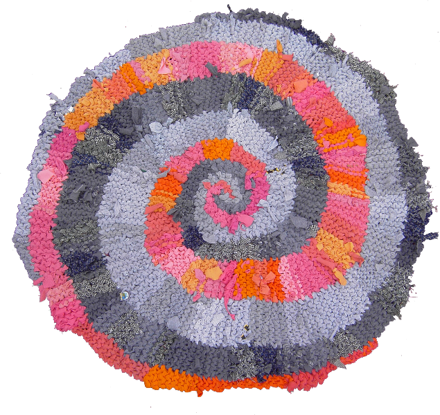 18 Orange and Gray Spiral