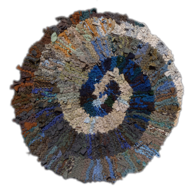 65 Blue and Brown Spiral