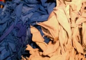 blue and oatmeal t shirt scrap