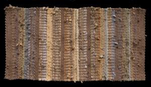 November hand woven rag rug