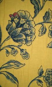 Blue & white fabric sample