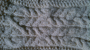 Aran sweater swatch.