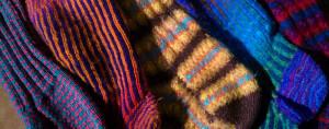 Hand-knit socks.