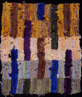 Floating Stripes (Biltmore 1) hand knit rag rug (sold). #Rug made from #recycled fabrics.