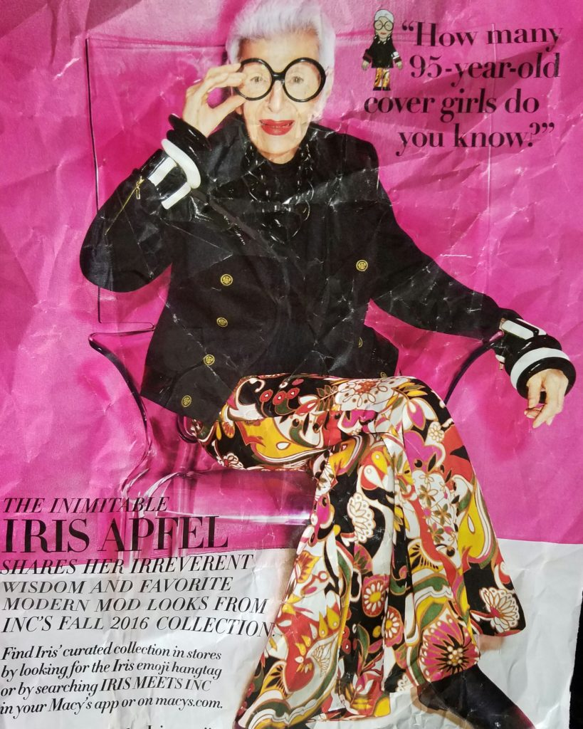 Iris Apfel is Inc's spokesmodel for 2016.