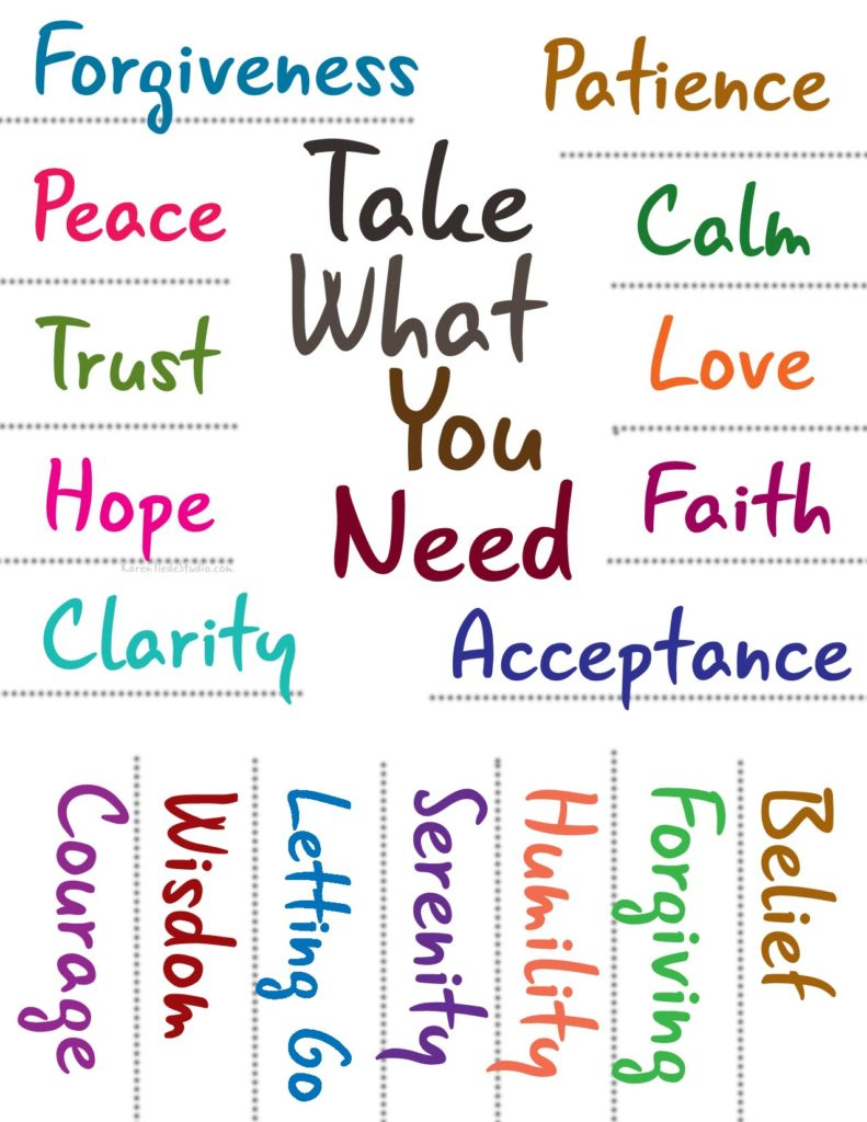 Take What You Need tear-off printable poster.